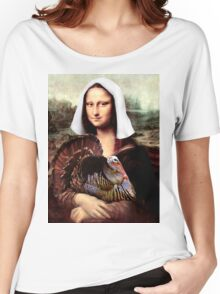 Mona Lisa Thanksgiving Pilgrim Women's Relaxed Fit T-Shirt