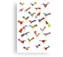 Birds doing bird things Canvas Print