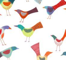 Birds doing bird things Sticker
