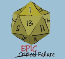 Epic Fail D20 by Brother-Rhogar