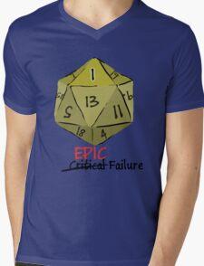 Epic Fail D20 Mens V-Neck T-Shirt