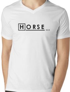 Bad Horse is Bad Mens V-Neck T-Shirt