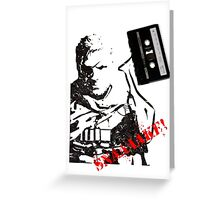 Snake - Metal Gear Solid V cassette art Greeting Card