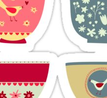 Tea Cups Sticker