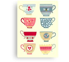 Tea Cups Canvas Print