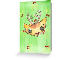 """""""Oro?"""" Reindeer Greeting Card"""