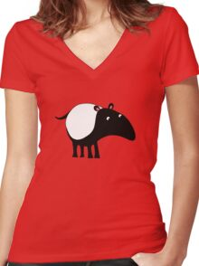 Tapir Women's Fitted V-Neck T-Shirt