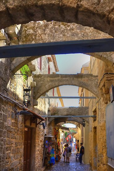 An alley in Rhodes Town by Tom Gomez