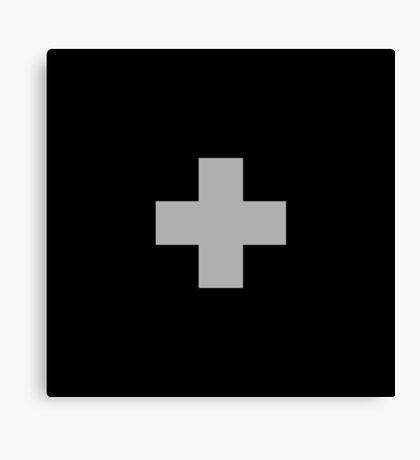 Monochrome Swiss Cross Canvas Print