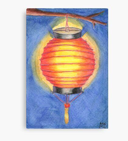 Red Paper Lantern Canvas Print