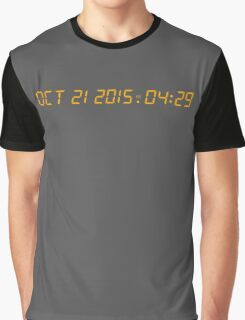 Back To The Future Delorean Numbers Graphic T-Shirt