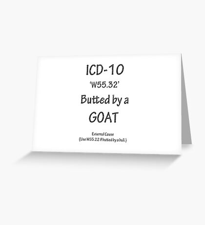 ICD-10 W55.32 Butted by a Goat Greeting Card