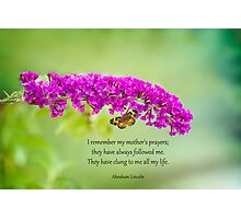 My Mother's Prayers Photographic Print