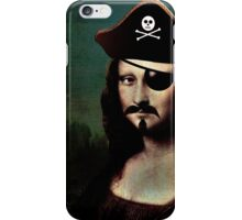 Mona Lisa Pirate Captain iPhone Case/Skin