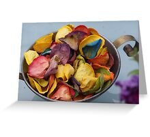 Dried coloured roses  Greeting Card