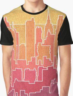 Rainbow city urban landscapes Graphic T-Shirt