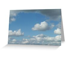 Cloud3frameD -C- photo Greeting Card