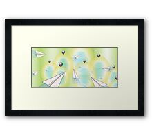 Planes and Hives Framed Print