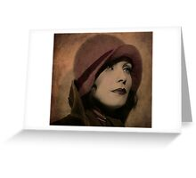 Greta Garbo Greeting Card
