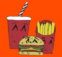 Cute fast food cartoon Kids Clothes