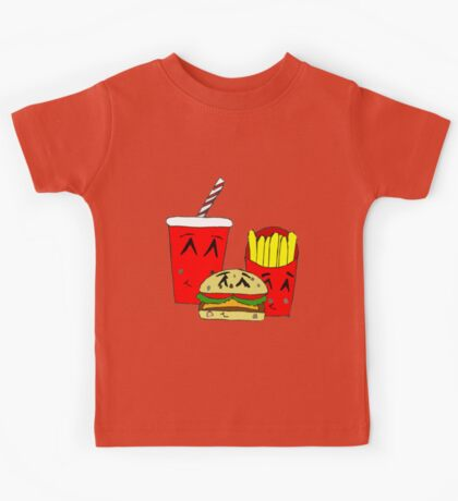 Cute fast food cartoon Kids Tee