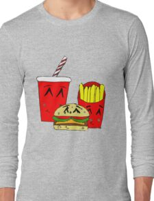 Cute fast food cartoon Long Sleeve T-Shirt