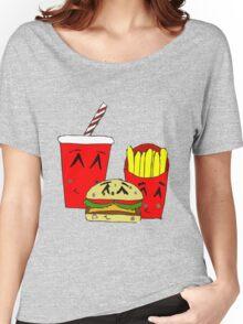 Cute fast food cartoon Women's Relaxed Fit T-Shirt