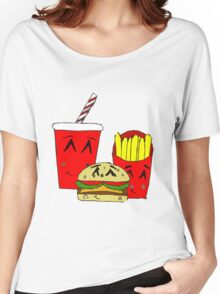 Cute fast food cartoon Women's Relaxed Fit T-Shirt