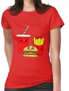 Cute fast food cartoon Womens Fitted T-Shirt
