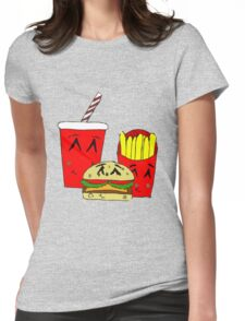 Cute fast food cartoon Womens Fitted T-Shirt