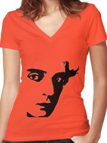buster. buster keaton. Women's Fitted V-Neck T-Shirt