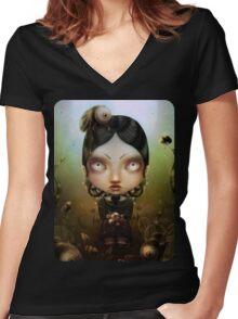Uagus animis Women's Fitted V-Neck T-Shirt