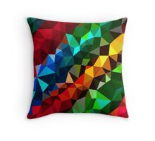 Abstract  multi colored Throw Pillow