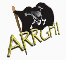 Pirate Flag - ARRGH!  Kids Tee
