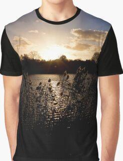 Sunset and lake Graphic T-Shirt