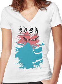 TreSplat  Women's Fitted V-Neck T-Shirt