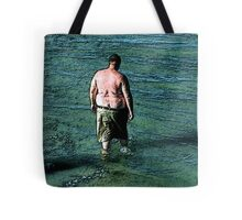 Thoughtfuly Wading in Maine Tote Bag