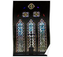 Cubert Church Window ~ Cornwall Poster