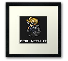 Deal With It - FFRK Cloud (FFVII) Framed Print