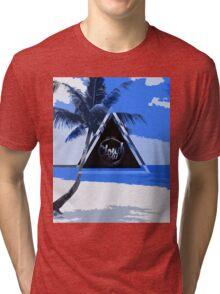 Abstract Beach Tri-blend T-Shirt