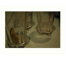 Drinks Gone Art Print