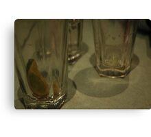Drinks Gone Canvas Print