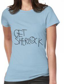 Get Sherlock (black) Womens Fitted T-Shirt