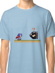 Mario Meets Sonic  Classic T-Shirt