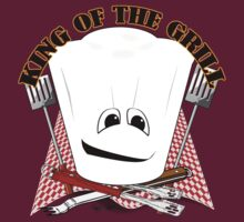 King of the Grill with Chef Hat and BBQ Tools  by Gravityx9