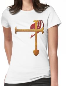 Erza Scarlet Heart Kreuz Womens Fitted T-Shirt