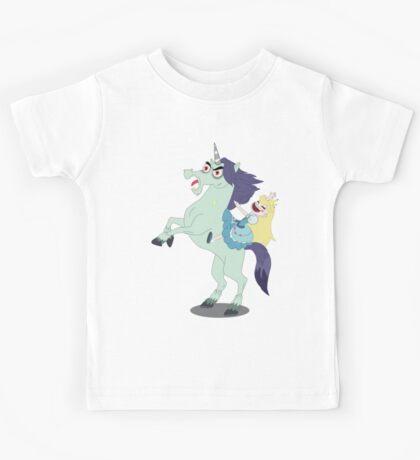 Star taming a wild unicorn - Svs FOE Kids Tee