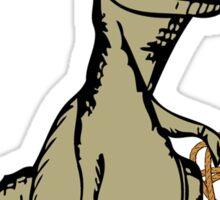 Cartoon Tyrannosaurus Dinosaur Explorer  Sticker