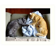 """Holding """"Hands"""" While They Sleep Art Print"""