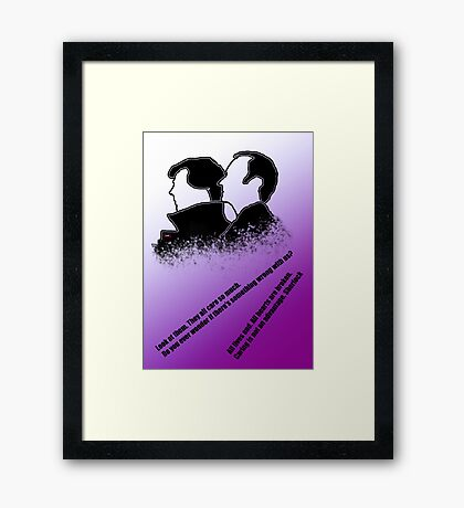 the Holmes boys  Framed Print